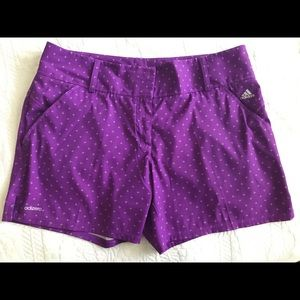 Adidas Purple Shorts with White Stars Side Vents